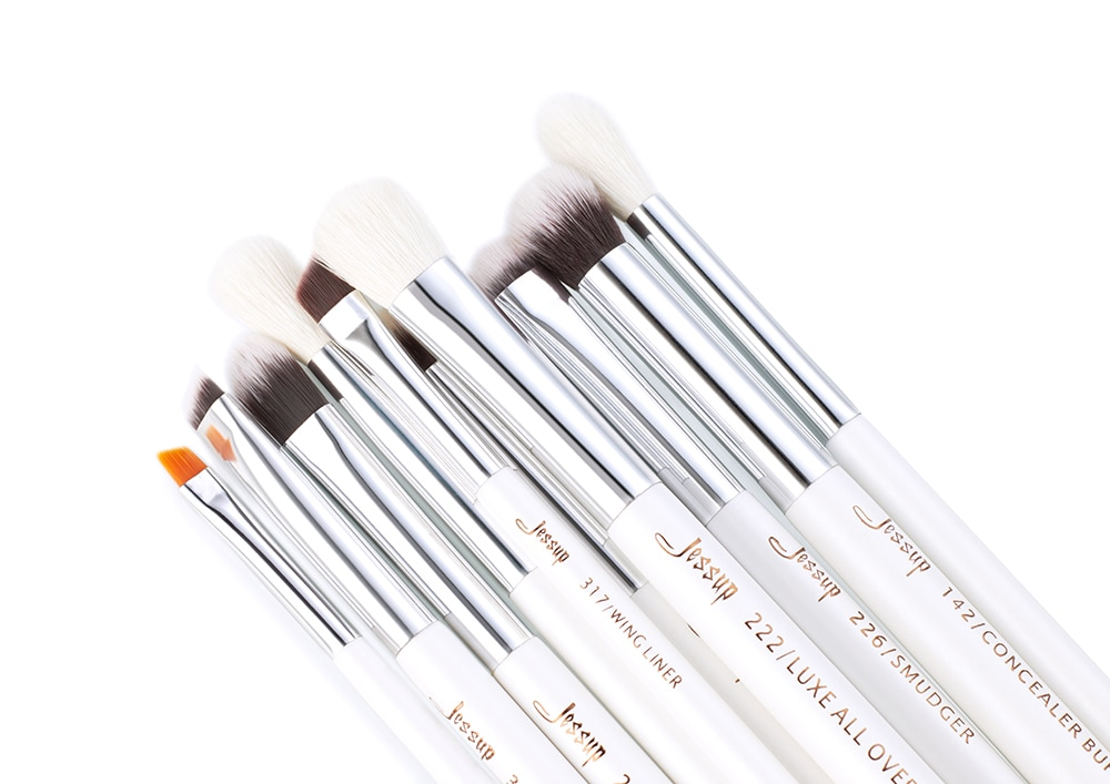 15pcs makeup brushes Pearl White/Silver