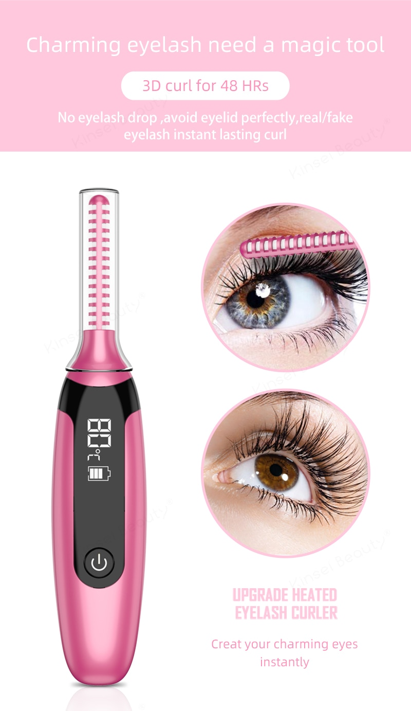 Electric Heated Eyelash CurlerUpto 48h Long Lasting