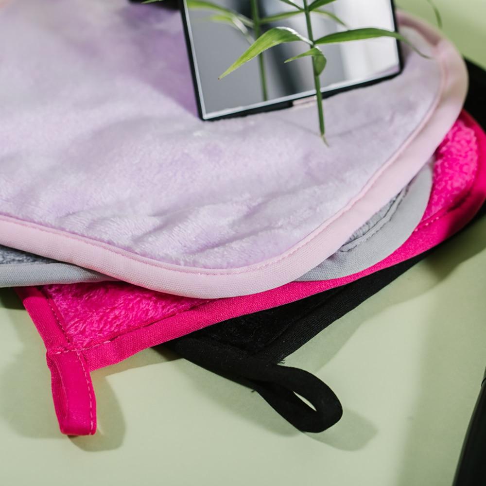 1pc Reusable Makeup Remover Facial Makeup Removal Towel Microfiber Cloth