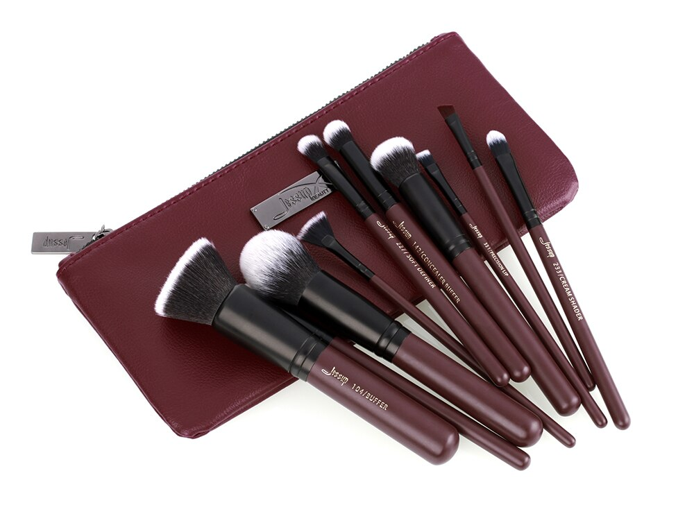 Jessup brushes 10pcs/set Plum Makeup brushes