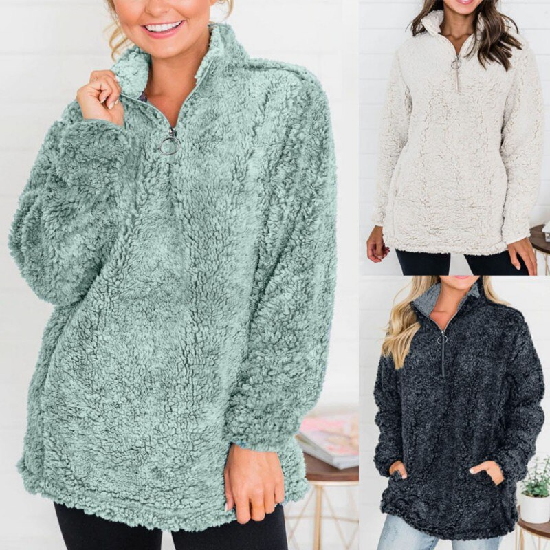 New Ladies Fashion Autumn And Winter Warmth  Long-sleeved Jacket