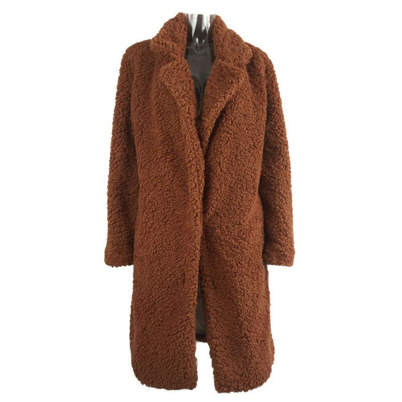 Women Winter Faux Fur Casual Mid-length New Style Warm  Coat