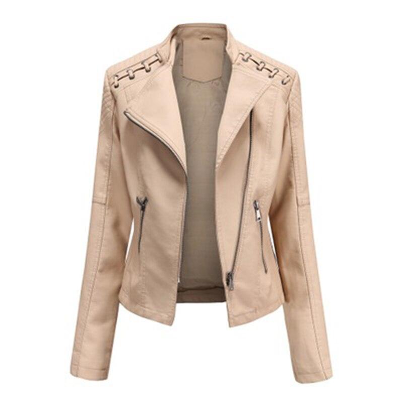 WomenLong Sleeve Zipper Solid Casual Slim Jackets