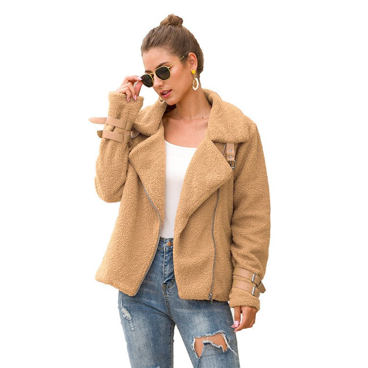 Teddy Jacket,Winter Coats For Women Large Size 3xl Stand Collar Windproof & Casual