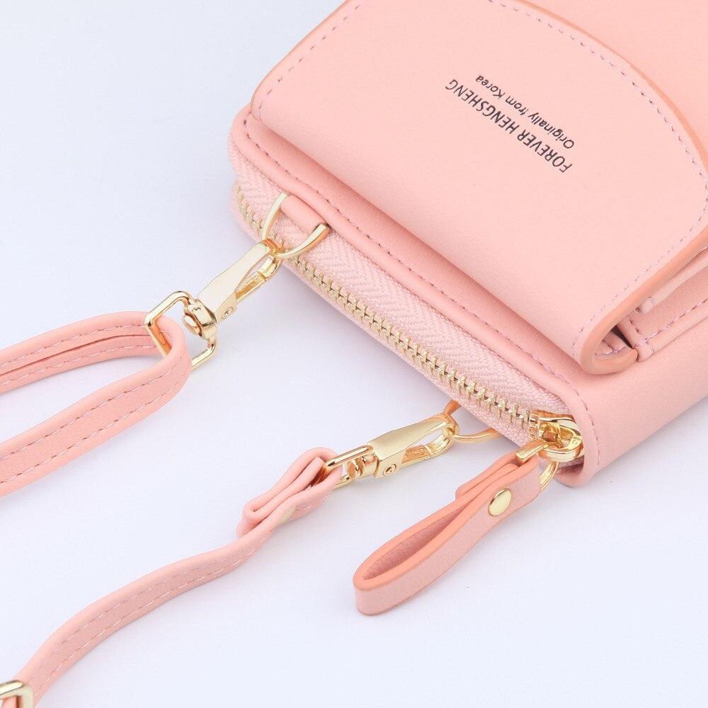 Girls Leather Shoulder Strap Bag/ Purses Solid Color