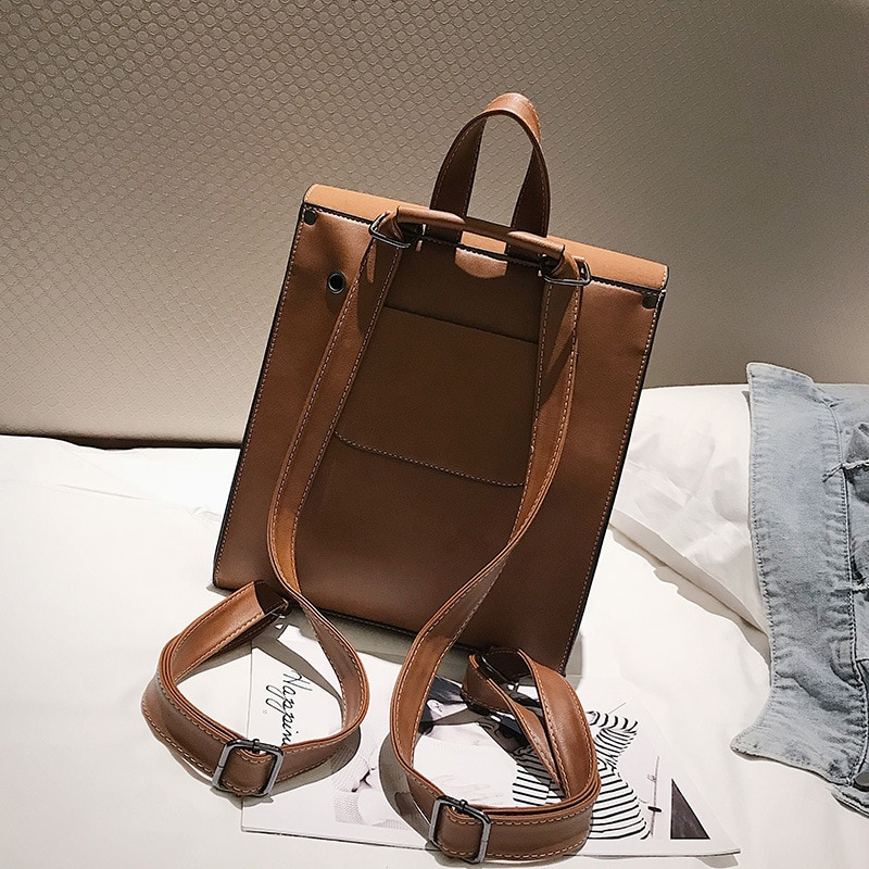 Fashionable Women's  Backpack Retro Casual Wild