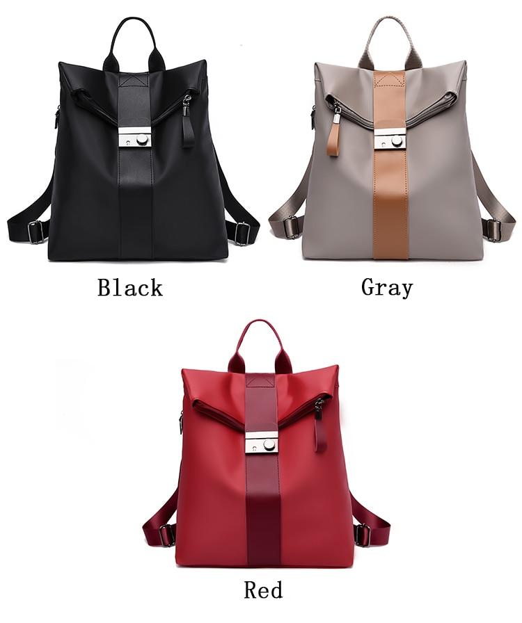 Anti-Theft Fashionable Women Oxford Backpack /Shoulder Bag