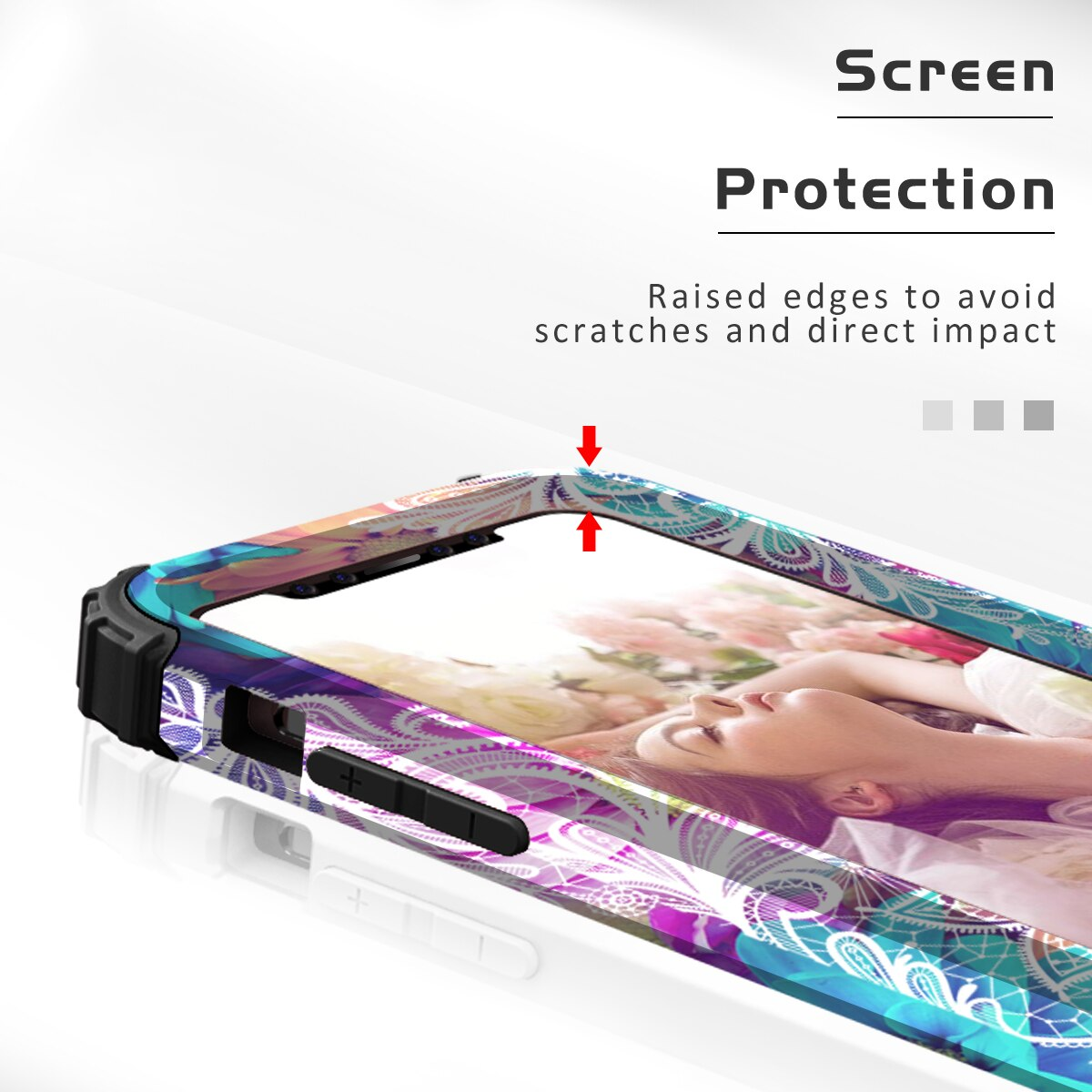 Heavy Duty Shockproof phone Protection Hard Plastic+Silicone Rubber