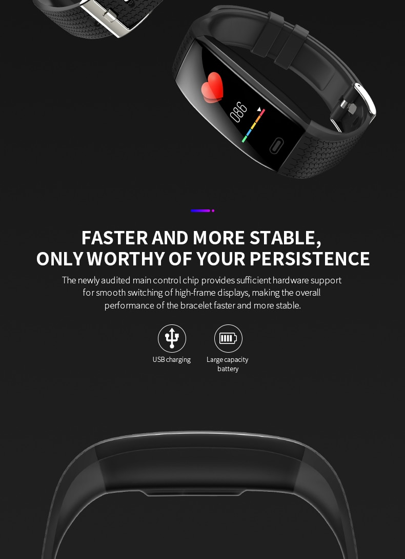 Waterproof Smart Watch T5 (Body Temperature /Weather Screen)
