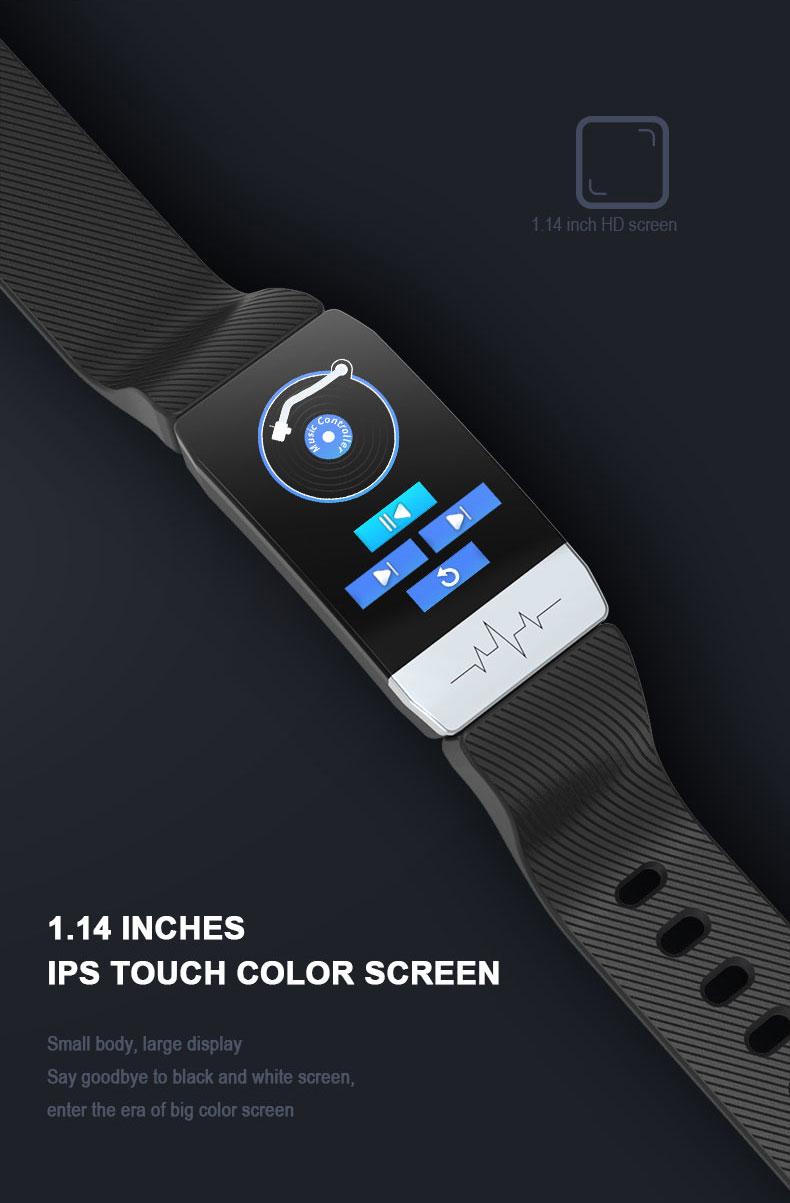 Smart Bracelet IP67 Waterproof Heart Rate & Blood Pressure Monitor
