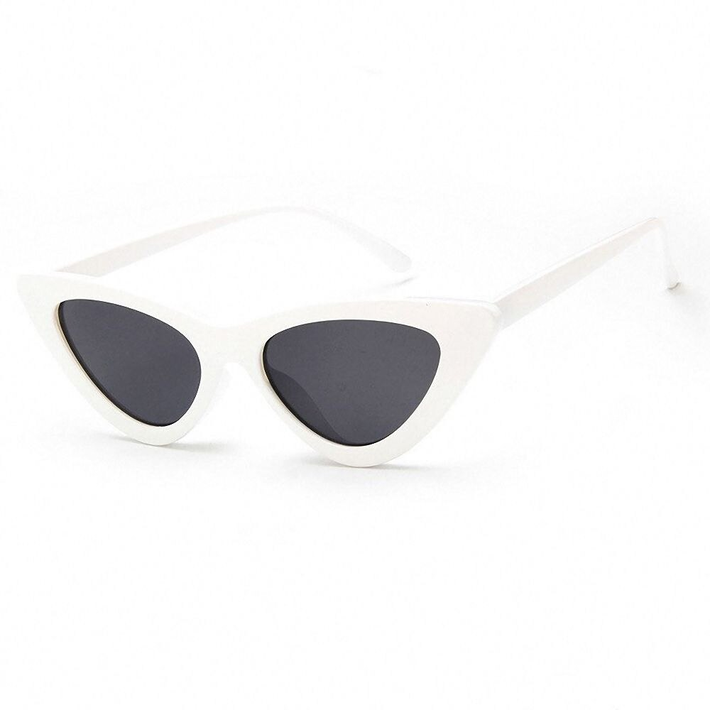 Vintage Leopard Cat Eye Sunglasses Triangle Shape