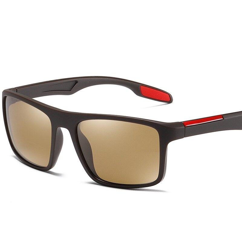 1 Pc Fashion Men UV400 Rectangular Ultra Light TR90 Sunglasses
