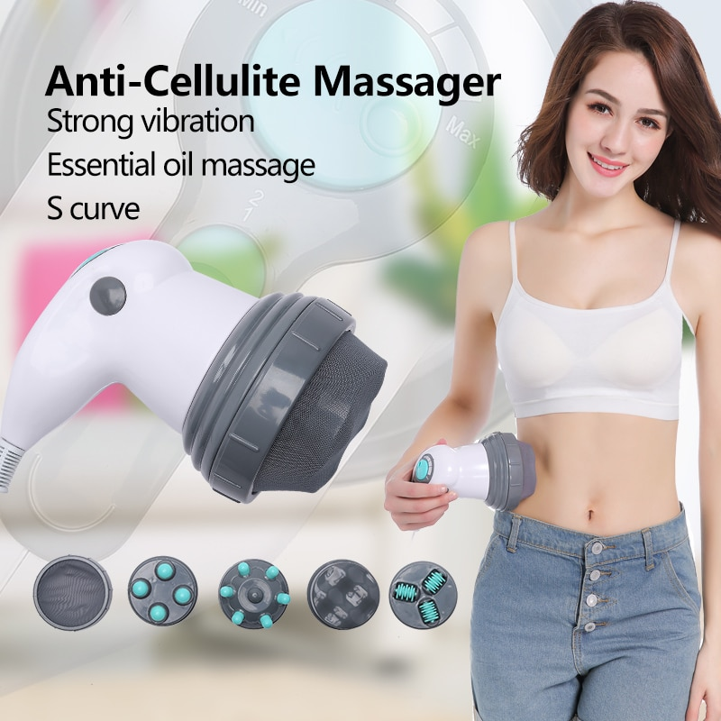 YICHANG Electric Vibrating Body Massager Slimming Neck Kneading Massage Relax Product Massages Roller for Anti Cellulite Machine