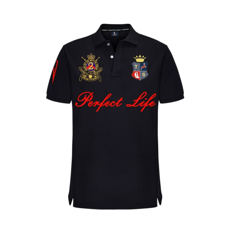 2021 Summer Men Clothes Solid Letter Shirt Embroidery Homme Masculine Golf Polo Casual Short Sleeve Lapel Cotton Plus Size 5XL
