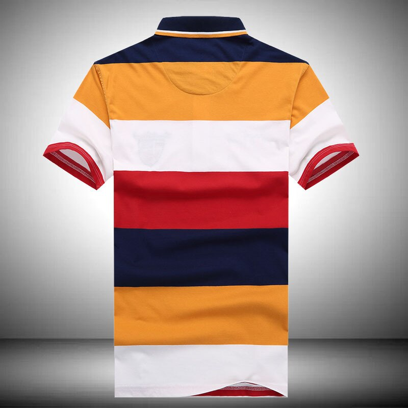 Summer 2020 New Fashion Shark Brand Tops Tee Men's Casual Cotton Breathable Striped Style High Quality Short Sleeve Polo Shirt