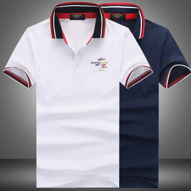 Shark Clothing Summer Men Camisa Polo Masculina Shirt 2020 New Business Casual Solid Male Short Sleeve High Quality Pure Cotton