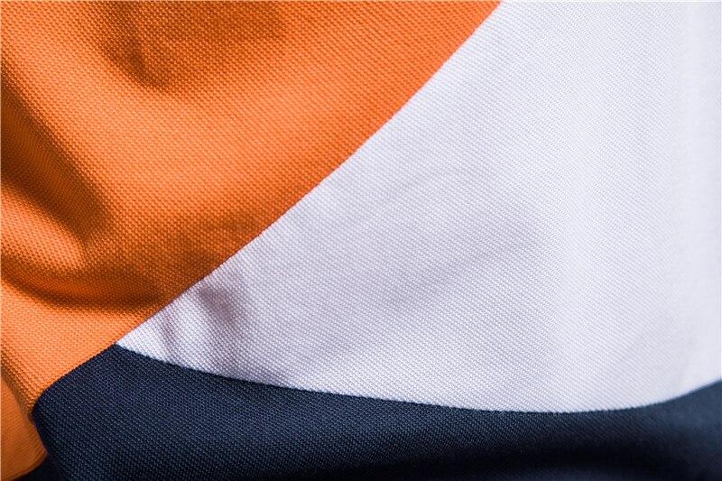 New Mens Summer Polo Shirt Casual Stitching Hit Color Polo Shirt Men Fashion Giraffe Embroidery Short Sleeve Mens Shirt Polos