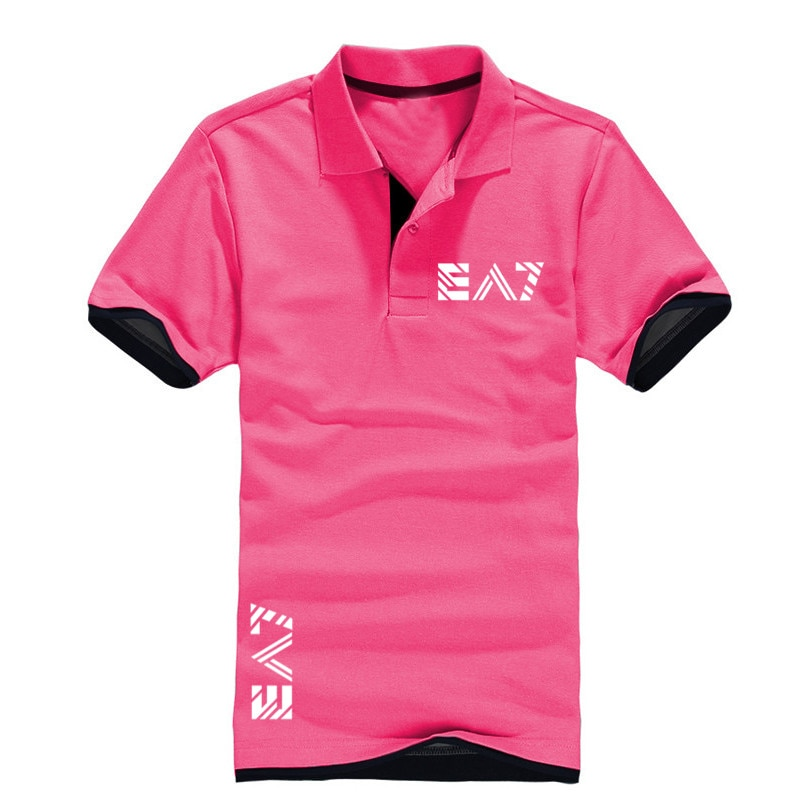 Men's polo shirts casual short-sleeved polo shirts men's fashion printing business men's casual spring and summer polo shirts
