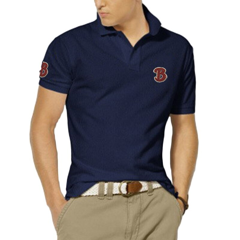 XS-4XL New Design 100% cotton High Quality Summer Mens Short Sleeve Polos Shirts Letter Logo Casual Male Clothes Lapel Tops