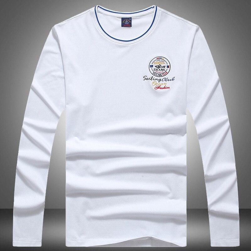 Casual 2020 Tshirt Autumn Men's T-Shirts Long Sleeve O-Neck Cotton Solid Male Shark Brand Clothing T Shirt Men Camiseta Hombre
