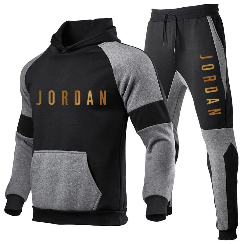 2020 Autumn Men Hooded Jacket Track Suit Pants Casual Tracksuit Men Sportswear Brand Men Clothes Two Piece Set Hombre Streetwear