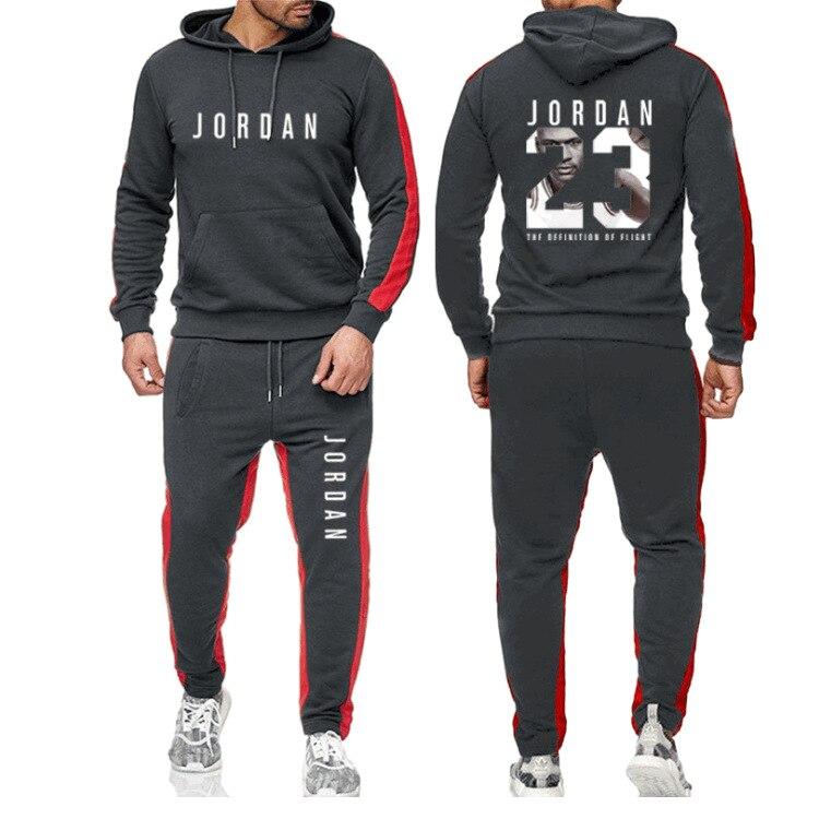 2021 Brand Clothes Men's Fashion Tracksuit Casual Sportsuit Man Hoodies Sweatshirts Pant Two Piece Set Men Sportswear Suit Homme