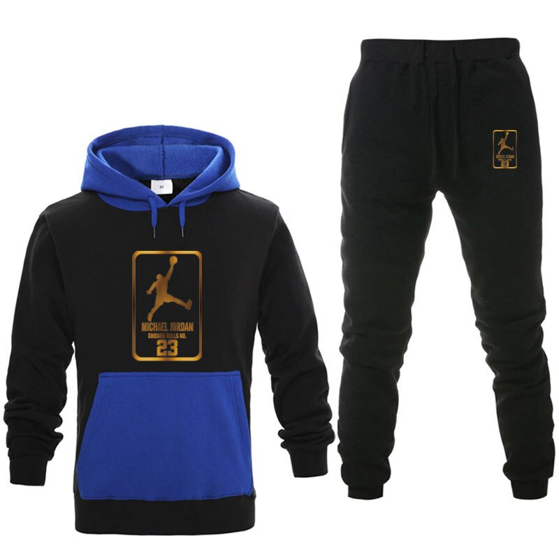 NEW Men Basketball sportswear Print Suit Two Pieces Set Men's Hoodies +Pants Male Hoody Jogging Tracksuit male Brand Outfit XXL