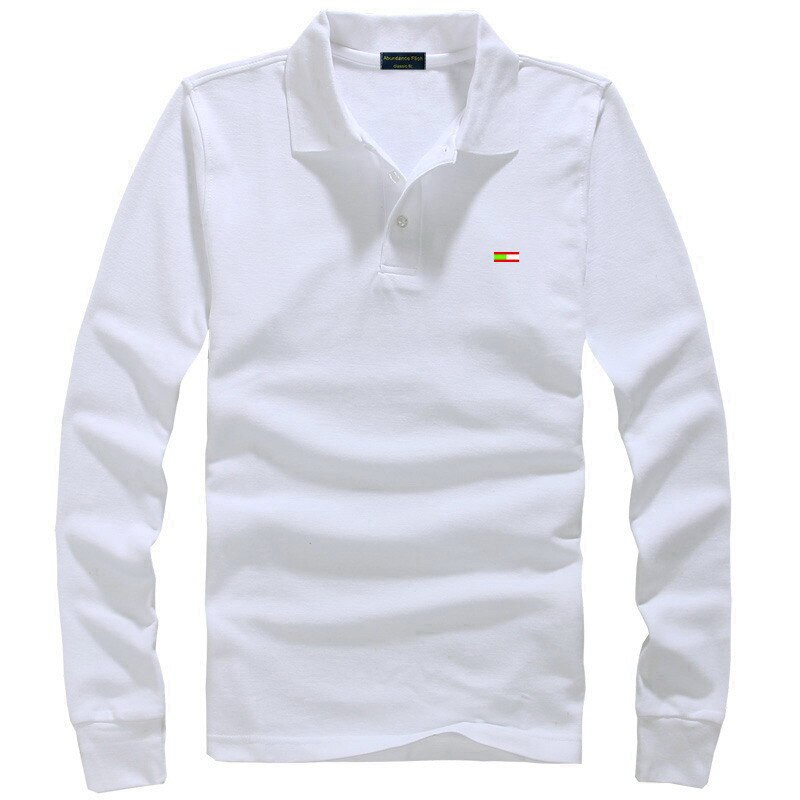 2021Spring Autumn 100% cotton Men Polo Shirt Long Sleeve Embroidered Logo Solid Fit Polo Shirts Casual Brand Business Men's Tops