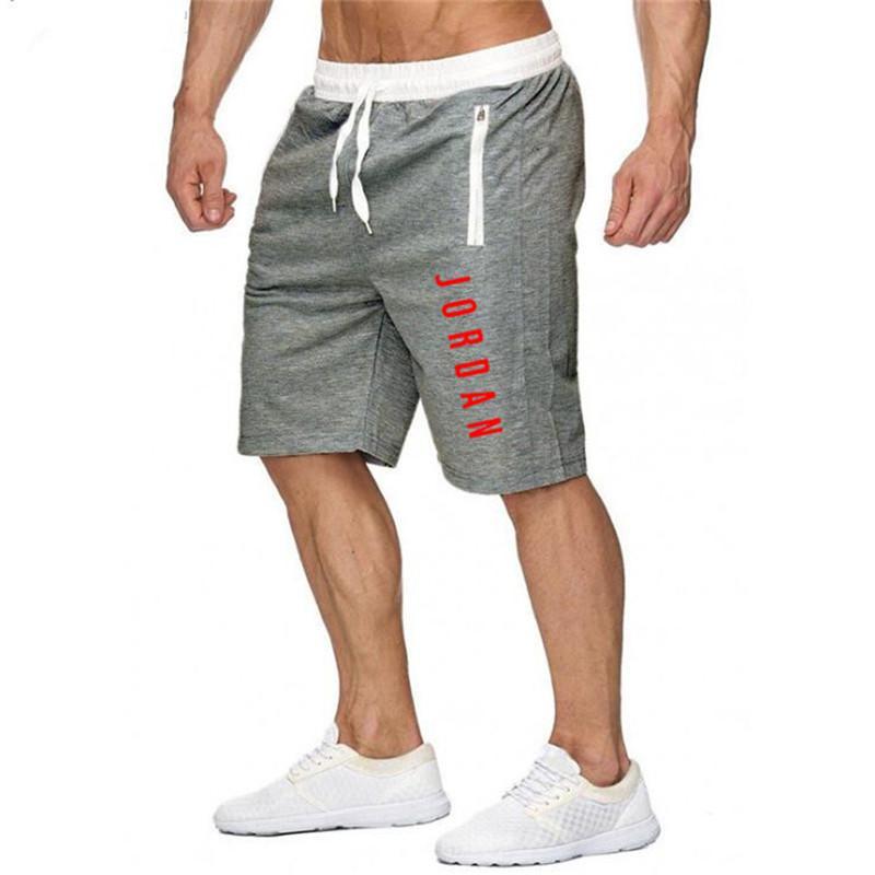 Men's Fitness Bodybuilding New Jordan Cotton Short Shorts Man High Quality Breathable Quick Dry Sportswear Jogger Casual Shorts