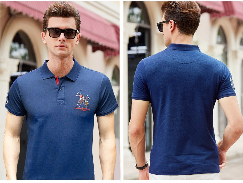 HAYBLST 2019 Polo shirt Men short sleeve breathable pure cotton brand clothing business casual homme camisa plus size XXXL Tops