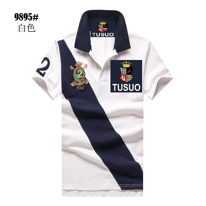 Ralp Embroidery Shirts For Men Fashion Brand 2021 New Summer Men'S Polo Shirts Camisa Masculina Short Sleeve Cotton Casual Lapel