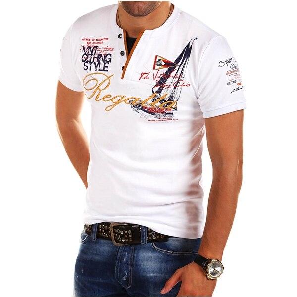 ZOGAA Polo shirts 2020 polo shirt men Short-sleeved Casual Letter Solid Anti-shrink Men POLO Shirt 4 Color Plus 5XL Men Polo