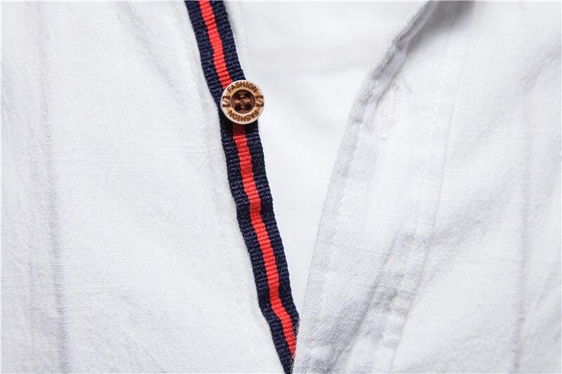 NEGIZBER New Spring Cotton Linen Shirt Men Solid Color High Quality Long Sleeve Shirt for Men Spring Casual Social Men's Shirts