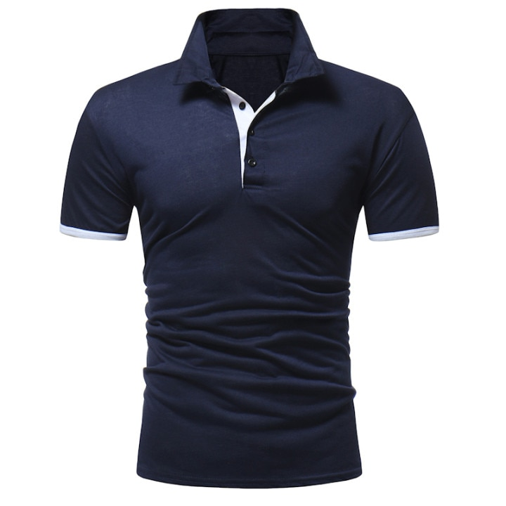 2020 Sport Polo Shirt Men Clothes Short Sleeve Summer Breathable Mens Tops Patchwork Plus Size Tee Shirt Customized Own Logo