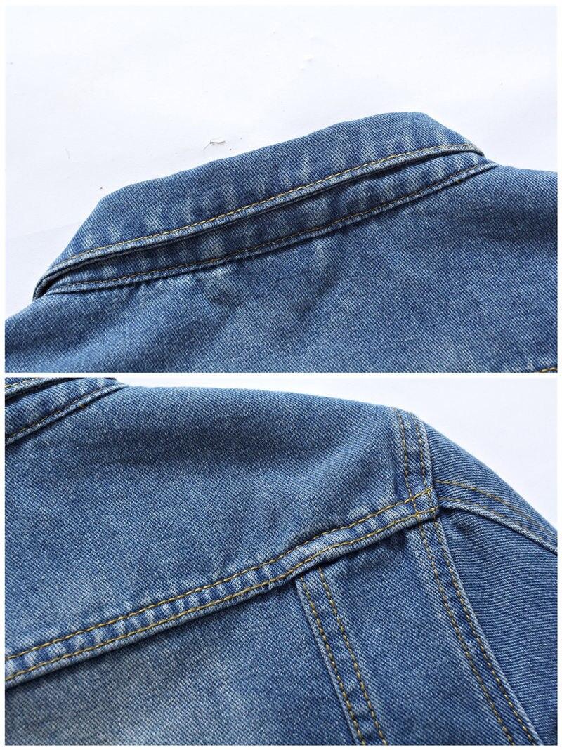 VERSMA Fashion Ripped Male Denim Jacket Men Harujuku Mens Long Sleeve Shirt Double Pocket Shirts Slim Fit Denim Shirt Boys 4XL