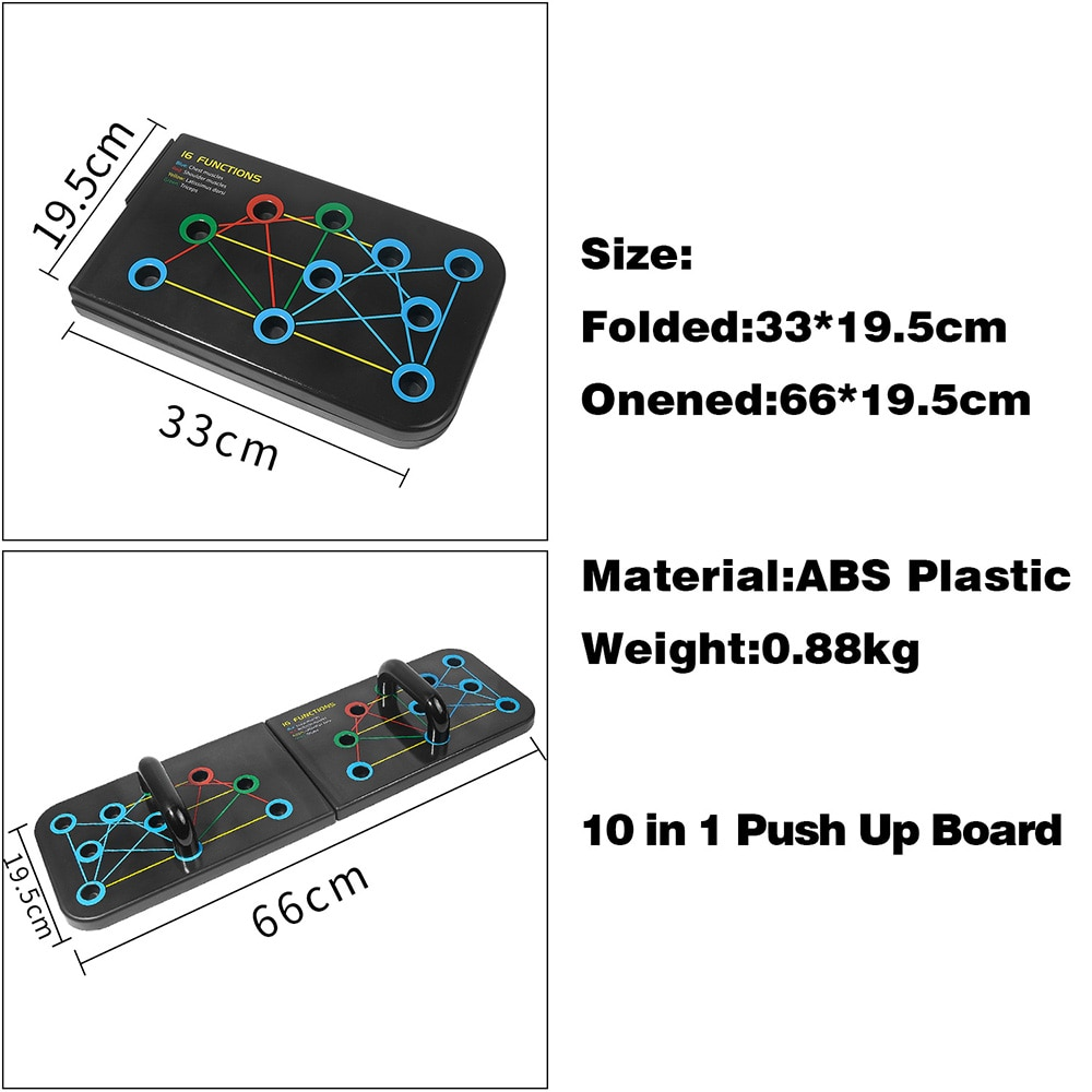 Push-up Stand Home Gym Fitness Push-up Stands Bodybuilding Exercise Portable Folding Push-up Board Abdominal Muscle Training
