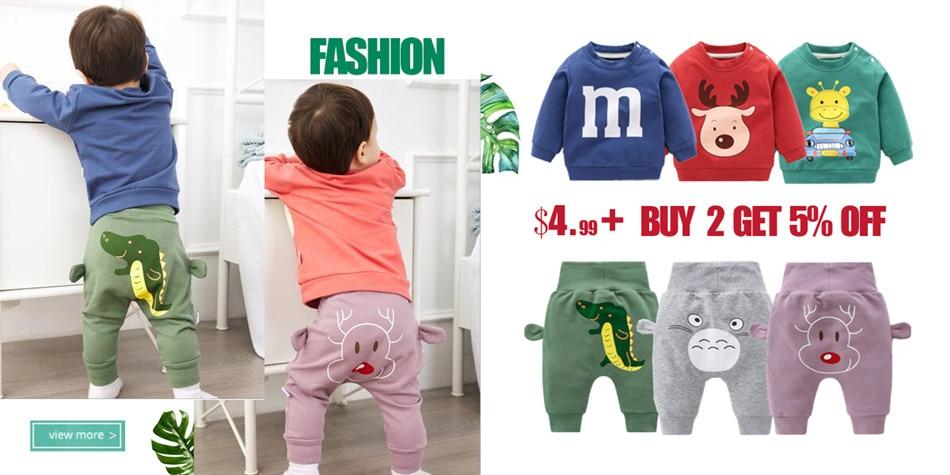 Newborn Baby Clothes Cartoon harem pants high waist pants Baby boy Pants Boys Girls Cotton PP Trousers Toddler Baby Boy Bottoms