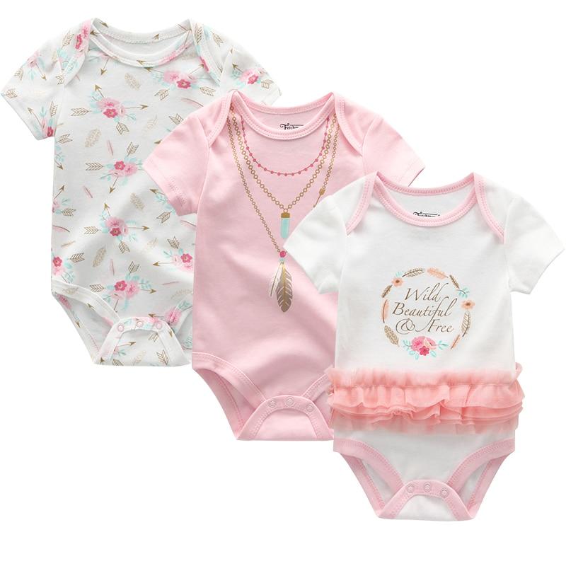 2021 3PCS/Lot Baby Boy Clothes BodysuIts Baby Girl Clothes Unicorn Girls Clothing Unisex 0-12M Baby Bodysuits Roupas de bebe
