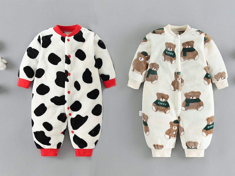 Newborn Baby Winter Clothes Infant Spring Jacket for Girls Jumpsuit for Boys Soft Flannel Bebe Romper Baby Clothes 0-18 Month