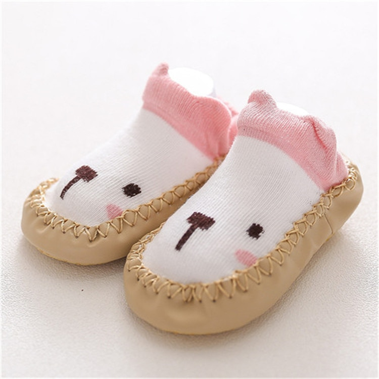 2020 New born Baby Socks With Rubber Soles Infant Baby Girls Boys Shoes Spring Autumn Baby Floor Socks Anti Slip Soft Sole Sock