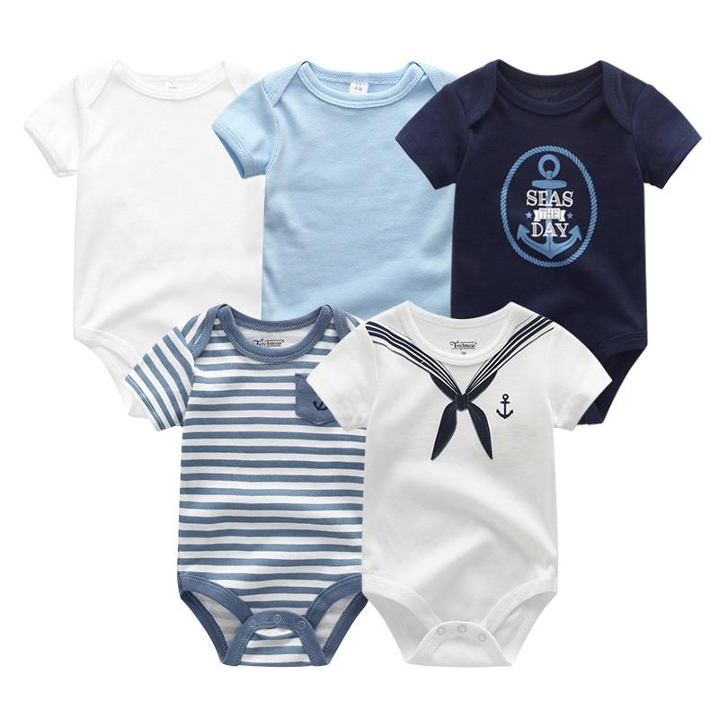 2021 5PCS/Lot Baby Boys Clothes Unicorn Girls Clothing Bodysuits Baby Girls Clothes  0-12M Newborn 100%Cotton Roupas de bebe