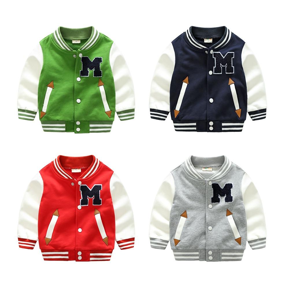 High-qualit spring autumn kids Cardigan Baseball Shirt coat casual fashion cotton boy girl clothes  baby Button Children clothes