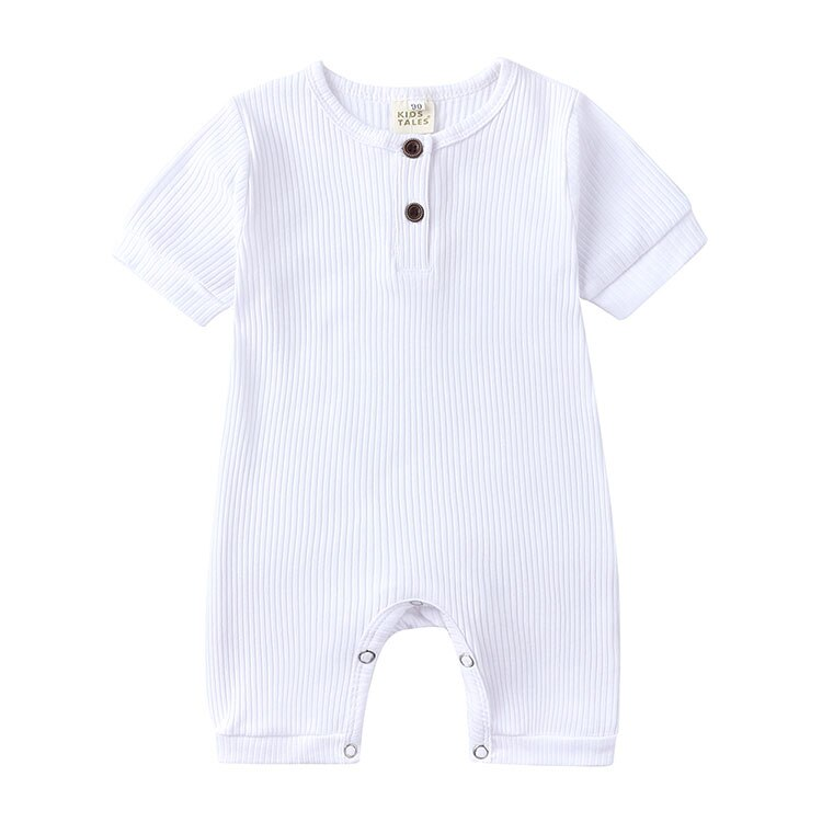 Fashion Baby Clothes Girl Romper Soild Color Baby Boy Clothes Cotton Short Sleeve O-neck Newborn Boys Rompers 0-24 Months