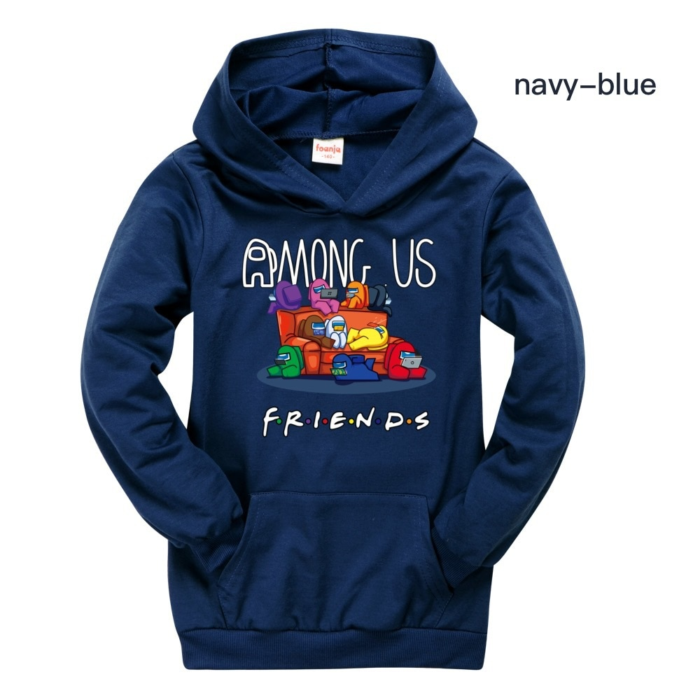 Amazon Casual Pocket Sweater for Boys Girls Hoodie Baby Boys Clothes Kids Sweatshirt Among Us Toddler Child Clothes Fall Hooded