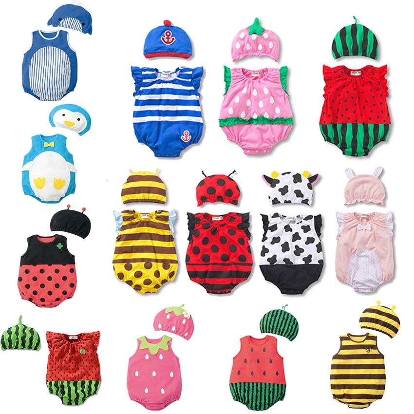 2020 Summer Boys And Girls Fashion Newborn Baby Climbing Clothes Baby Girl Romper Infant Animal Pajamas  Checkered gentleman