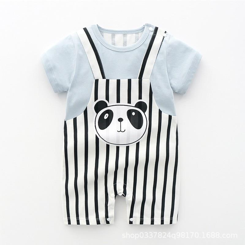0-3y Baby Girl Clothes Summer 2021 Newborn Baby Boys Bodysuit Home Wear Cartoon Baby Clothing Cute Funny Baby Costume Pajamas