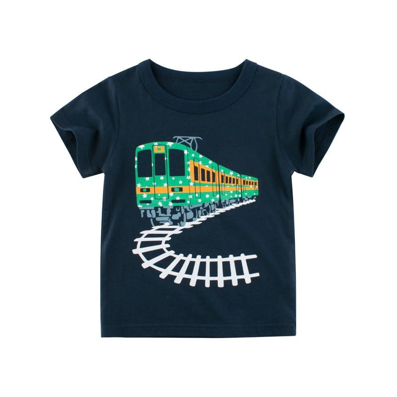 Baby Boys Shirts 2020 New Boys Summer Tshirts Kids Cartoon T shirt Children t shirts for Boys Short Sleeve Boys Cotton Shirts