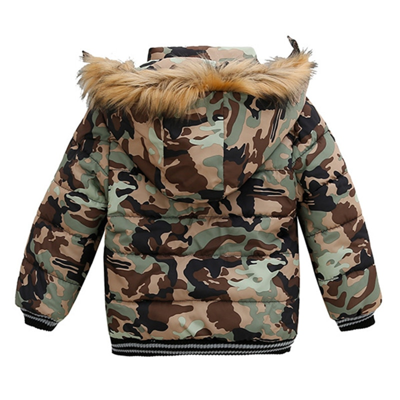 Autumn Winter Baby Cotton Girls Coats and Jackets Fashion Baby Warm Hooded Kids Boy Jackets Outwear Clothes