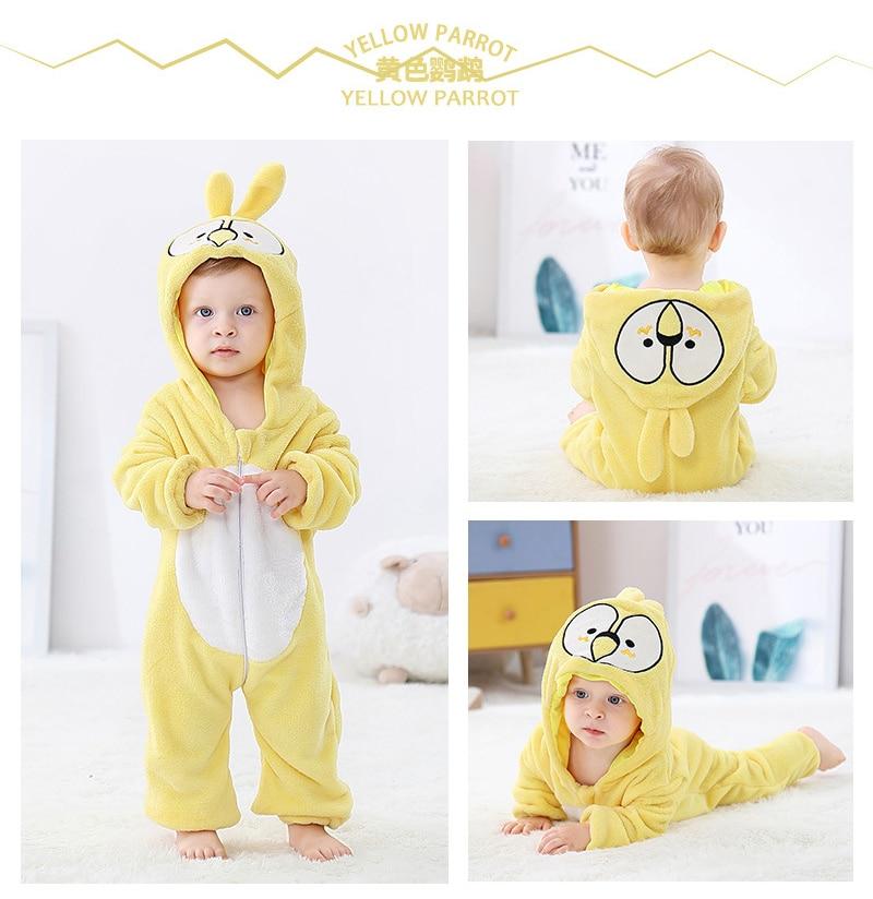 Baby Rompers Baby Girl Clothes Unicorn Kigurumi Kids Onesie Anime Monkey Cosplay Costume New Born Boy Pajama Flannel Jumpsuit