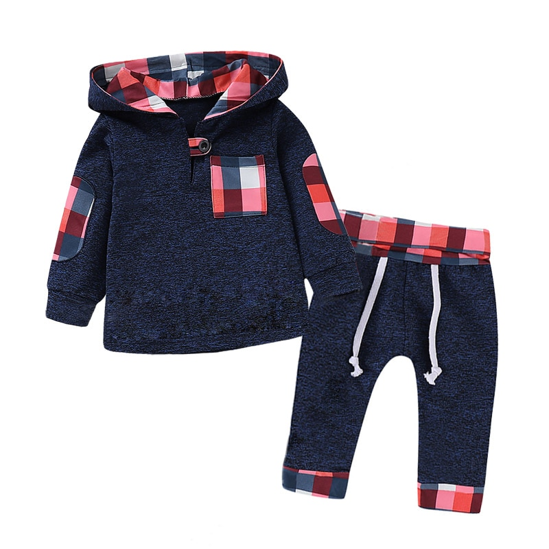 2021 Autumn Spring New Letter Baby Boy Clothes Kids Hooded Animal Children Suit For Girls Outfits Infant Clothing Sets 0-3 Month